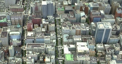 「創造界隈」事業が進む馬車道・関内周辺の模型図
