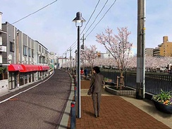 大岡川プロムナード再整備の完成イメージ