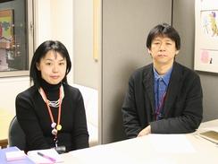 横浜美術館学芸教育グループの庄司尚子さんと関淳一さん