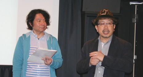 神奈川県産業労働局産業・商業流通課商業まちづくりグループの鈴木博明(右)さんと地域アドバイザーの杉山昇太さん