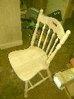 塗装前の椅子
