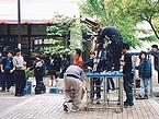 横浜FCを介してのロケ撮影の様子