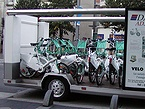 欧州カーフリーデー レンタサイクルを街中に設置