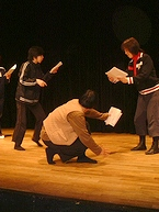 演劇大学・流山児祥さんと小林七緒さん指導のクラス